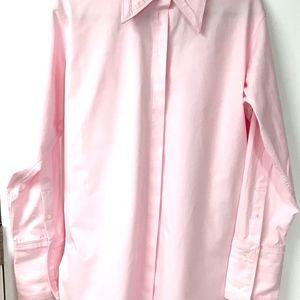 Helmut Lang Tops - Helmut Lang Pink Cutout Oversized Cotton Shirt,NWT